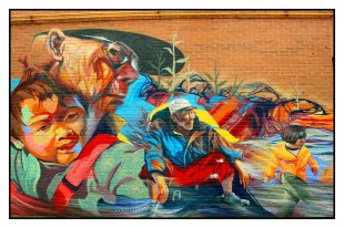 Scenes from Chinatown (3 of 3), 2011 Located: 397 Dundas St W, Toronto Artists: Alexa Hatanaka and Aaron Li-Hill Copyright 2017, Public Art of Toronto. All rights reserved.